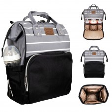 Çanta Siyah Gri Çizgili